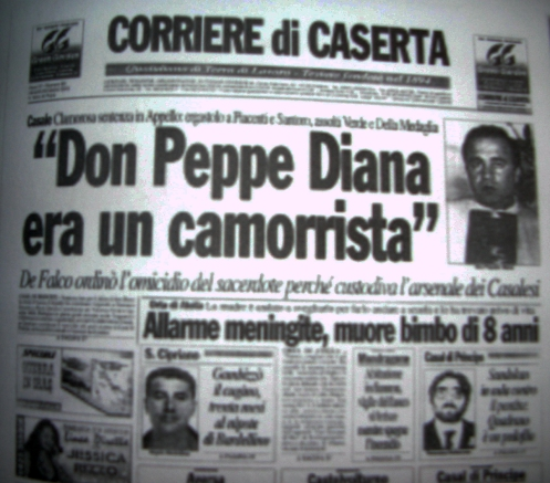 Don Peppino Diana vergognosamente calunniato